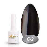 Гель-лак Nice for you Professional 8,5 ml №С02 - черный эмаль