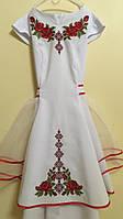Сукня святкова вишита для дівчинки машинна робота, фото 1
