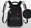 Городской рюкзак Xd Design Bobby Оригинал антивор с кодом от подделок в фирменной коробке (P705.542) серый, фото 7