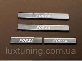 Накладки на пороги Zaz Forza 2011- на метал