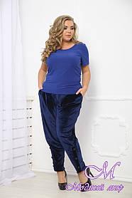 Женское велюровые брюки больших размеров (р. 48-90) арт. Вольтер