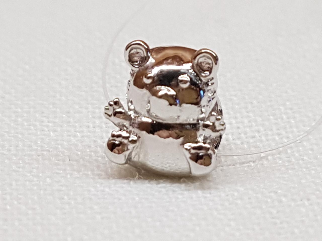 Серебряная подвеска-шарм Медвежонок. Артикул 903-00824