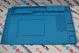 Силиконовый коврик для ремонта телефонов, 45 x 30 см (Голубой)