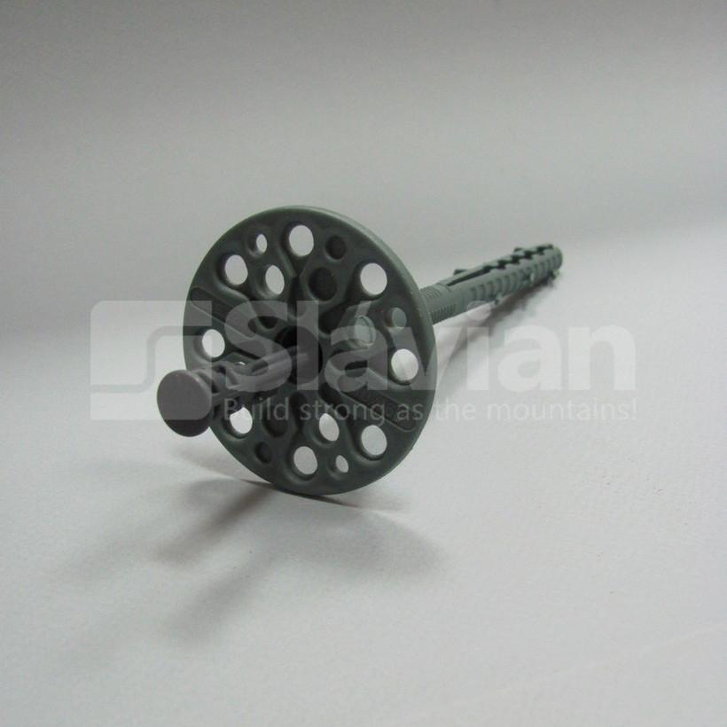 Дюбель для крепления теплоизоляции 10х140мм, полиамидный гвоздь (Standard)
