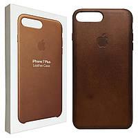 Чехол Apple-Leather Case для iPhone 7/8 Plus - Saddle Brown (MMYF2ZM/A), фото 1