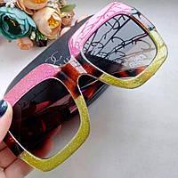 Солнцезащитные очки Gucci(розовые с золотом)