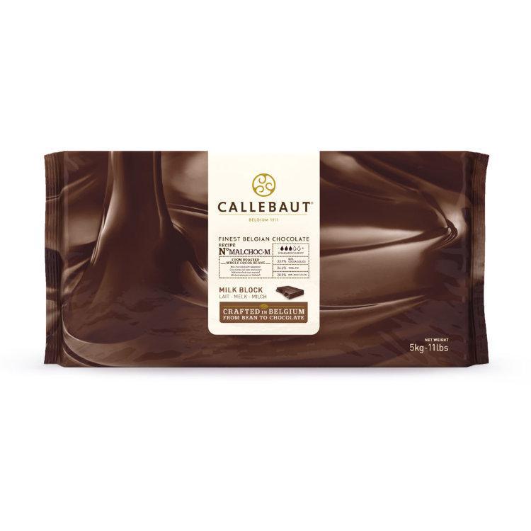 Barry Callebaut MALCHOC-М-122 Молочний шоколад без цукру 34%,  Блок 1 х 5 кг