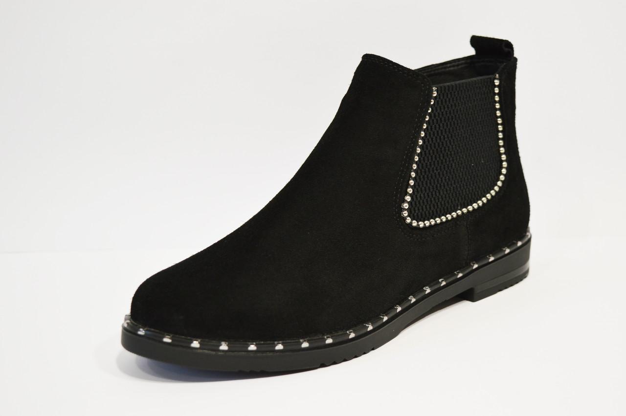 Ботинки замшевые женские Kento 1071