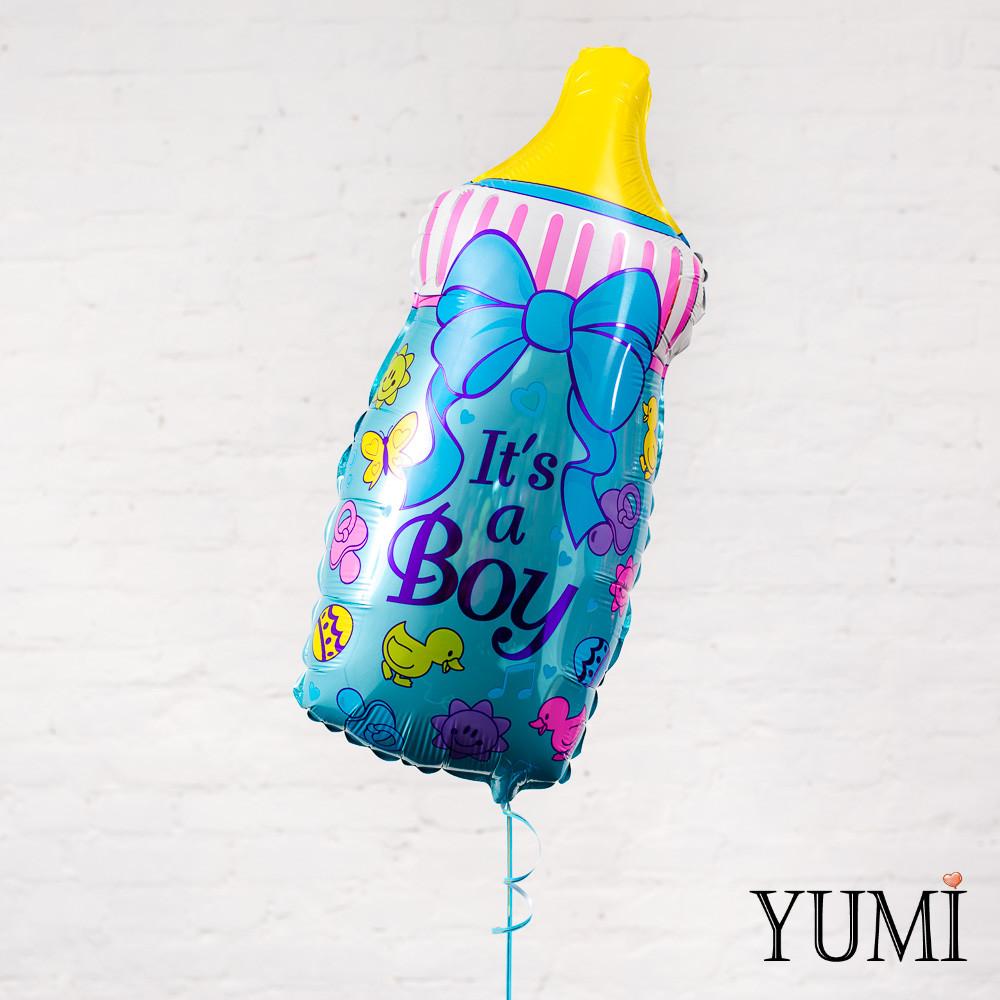 """Фольгированный шар голубая бутылочка """"It's a Boy"""""""