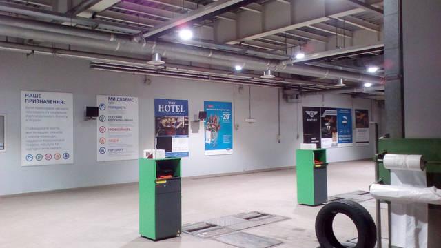 Инсталляция современных светодиодных светильников в «Виннер Автомотив» г.Киев