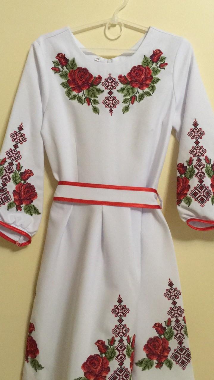 Сукня нарядна вишита для дівчинки машинна робота 146-164 ріст ... c25bf23aa5051