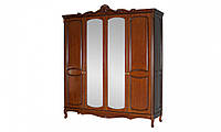 Шкаф 4-дв из дерева для спальни Анабель, орех, Киев