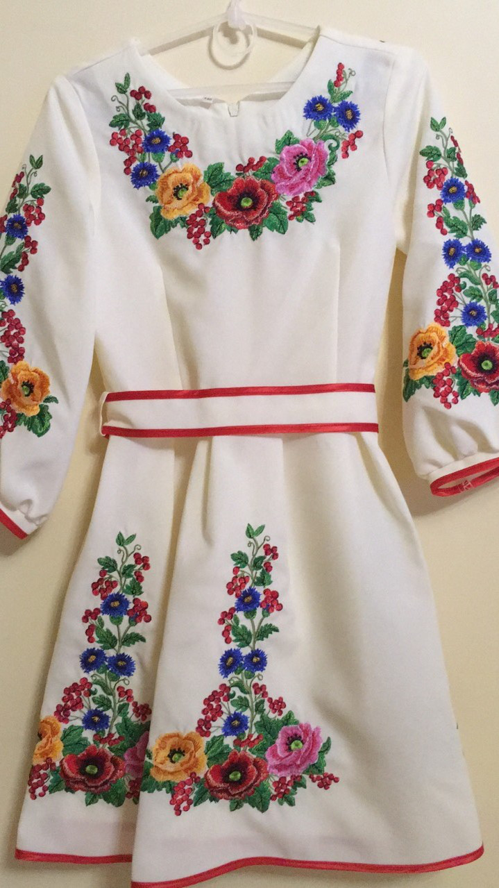 Вишита святкова сукня для дівчинки машинна робота 146-164 ріст - Скарбниця  Карпат- інтернет ebf896dbec288