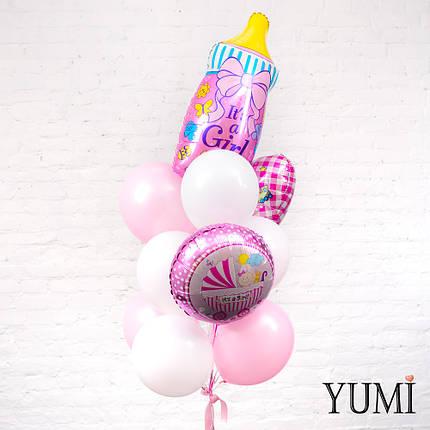 Букет из воздушных шариков на выписку для девочки, фото 2