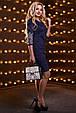Красивое женское платье 2521 темно-синий, фото 2
