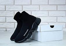 Кроссовки мужские Balenciaga Knit High-Top Sneakers Black/Black баленсиага мужские. ТОП Реплика ААА класса., фото 3