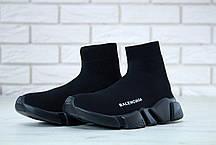 Кросівки чоловічі Balenciaga Knit High-Top Sneakers Black/Black баленсіага чоловічі. ТОП Репліка ААА класу., фото 2