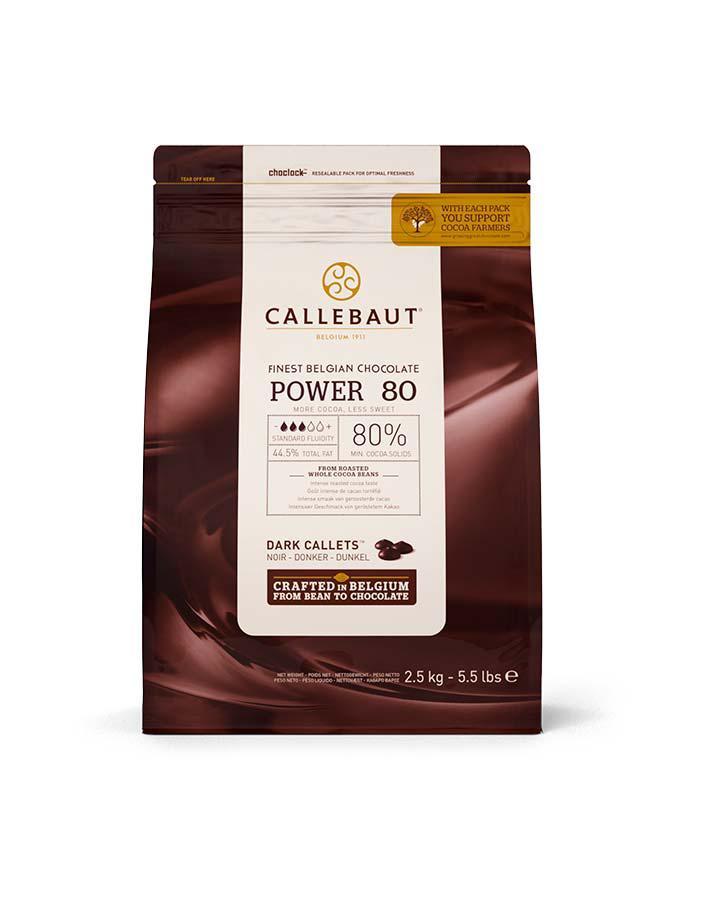Barry Callebaut Powerful 80-20-44-Е4-U71 Насичений смак какао, вміст какао 80.1% 8 х 2,5 кг