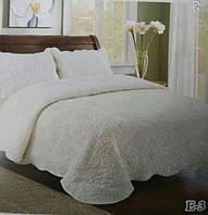 Однотонное ворсистое покрывало на кровать молочного цвета.Размер 2.20 на 2.40., фото 1