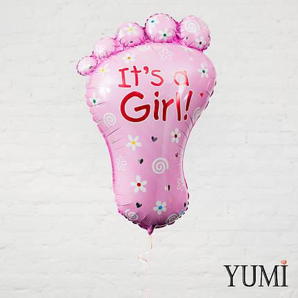 """Воздушный шарик на выписку для девочки """"It's a Girl"""", фото 2"""