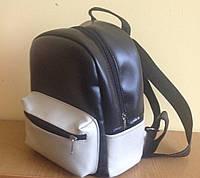 Рюкзак женский городской (черный-белый).