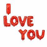 Набор фольгированных шаров I LOVE YOU в красном цвете