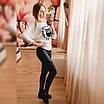 Модная женская кофта Элиса молочная, фото 3
