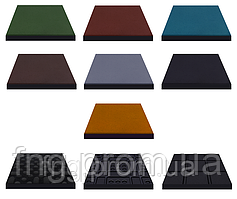 Плитка резиновая 500х500х25 мм - (для покрытия дорог)