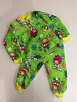 Тёплая детская пижама р. 30,32,34 (104/110-116/122)