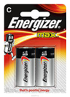 Батарейки Energizer Max alkaline C LR14 1.5V 2шт Blister