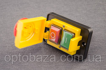 Кнопка Вкл/Выкл 4 клеммы с крышкой для бетономешалки, фото 2