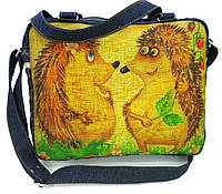 Джинсовая сумочка ежики