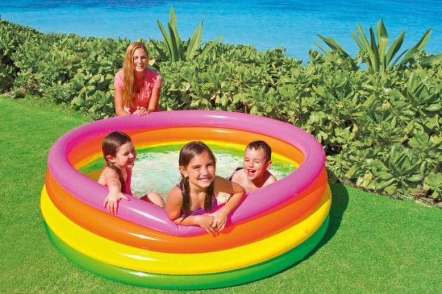 Детский надувной бассейн Intex Радуга 56441 168х46 см