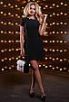 Красивое женское платье 2517 черный, фото 2