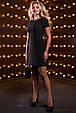 Красивое женское платье 2517 черный, фото 3