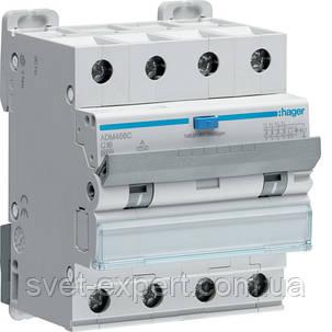 Диференційний автоматичний вимикач Hager 4P 6kA C-16A 30mA A, фото 2
