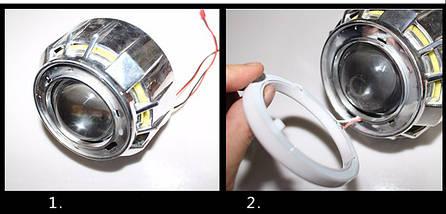 90 мм led-кольца в фару (ангельские глазки). ЛУЧШИЕ! 2шт., фото 2
