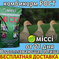 Комбикорм для ВОДОПЛАВАЮЩЕЙ ПТИЦЫ от 21 дня РОСТ (мешок 25 кг) Міссі