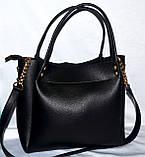 Женская брендовая зеленая сумка Michael Kors 26*25 см, фото 3