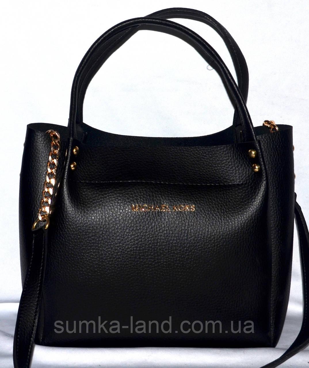 feaf64eba166 Женская брендовая черная сумка Michael Kors 26 25 см - SUMKA-LAND в Харькове
