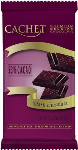 Шоколад Cachet черный 53% какао 300г