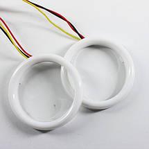 70 мм led-кольца с поворотом, в фару (ангельские глазки). ЛУЧШИЕ! 1шт., фото 3