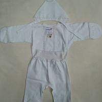 Детский набор в роддом ткань интерлок  рост 53-56 см цвет кремовый