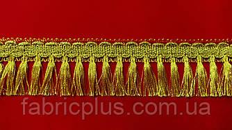 Бахрома   люрекс  золото  №6058  ( 5 см)