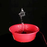 Насос для фонтана до 60 градусов вода 3 МЕТРА (подъем воды)  240 l\h 4 Ватта 12V блок питания в комплекте 078o