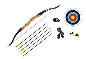 Лук классический Jandao Bronze + 5 стрел + натяжитель Cartel + подставка Cartel Hunter + щит + 2 зажима