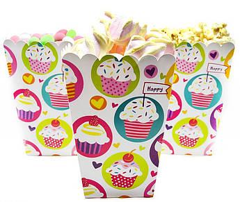 Коробочки для сладостей Кексы 5 штук