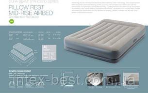 INTEX 64118 надувная кровать Queen 152х203х30см., фото 2