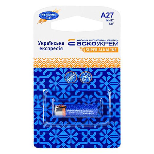 Батарейка АСКО-УКРЕМ A27 MN27