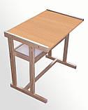 Детская деревянная парта + стул, фото 2